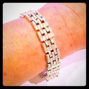 Genuine Diamond Sterling Silver Tennis Bracelet